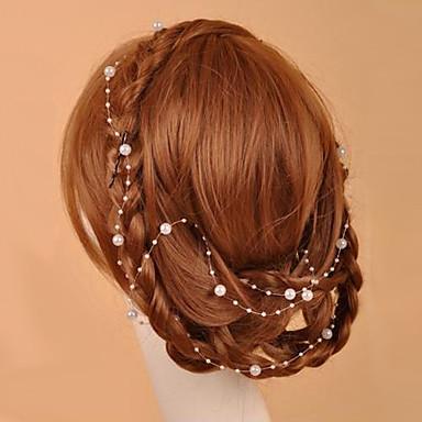 Cristal / Imitație de Perle / Material Textil Diademe / Lantul Capului cu 1 Nuntă / Ocazie specială / Party / Seara Diadema