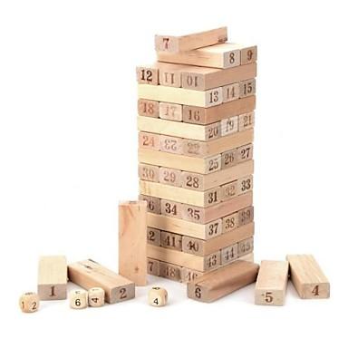 fa 1 ~ 48 szám építőkövei Jenga játék készlet