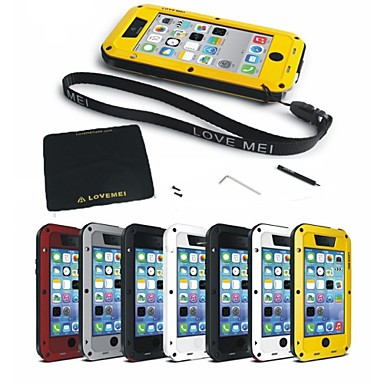 abordables Fundas para iPhone 5c-Funda Para iPhone 7 / iPhone 7 Plus / iPhone 6s Plus iPhone XS / iPhone XR / iPhone XS Max Agua / Polvo / prueba del choque Funda de Cuerpo Entero Un Color Dura Metal