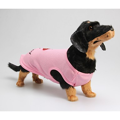 Câine Tricou Îmbrăcăminte Câini Roz Costume Bumbac Literă & Număr Casul / Zilnic XXS XS S M L