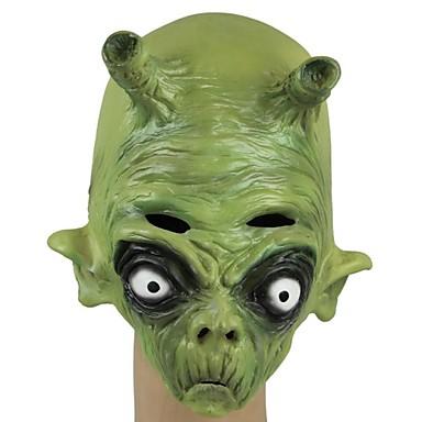 Yeni Lateks Yesil Uzayli Hayalet Bas Maske Cadilar Bayrami