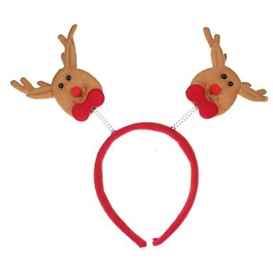 olcso Sapkák és fejfedők-piros& bézs karácsonyi díszek fej csat