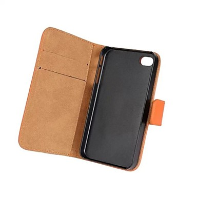 billige iPhone-etuier-Etui Til iPhone 4/4S / Apple iPhone XS / iPhone XR / iPhone XS Max Heldekkende etui Hard ekte lær