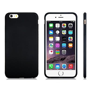 voordelige iPhone 5 hoesjes-hoesje Voor Apple iPhone 8 Plus / iPhone 8 / iPhone 7 Plus Schokbestendig Achterkant Effen Zacht Siliconen