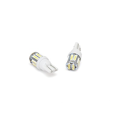ieftine Becuri De Mașină LED-so.k 2pcs t10 becuri pentru mașină 1 w smd 7020 180 lm 10 lămpi de semnalizare laterale