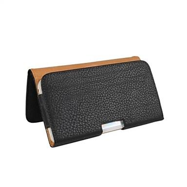 Недорогие Универсальные чехлы и сумочки-Кейс для Назначение iPhone 6s Plus / iPhone 6 Plus / iPhone 6s Кошелек Чехол Однотонный Мягкий Кожа PU