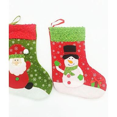 olcso Sapkák és fejfedők-24cm karácsonyi zokni karácsonyi party dekoráció 2 db (véletlenszerű szín)