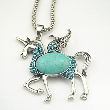 toonykelly® fashionabla antika försilvrad söt kristall häst turkos sten  halsband (1 st) 2073337 2019 – €9.99 d37b9d16c703b