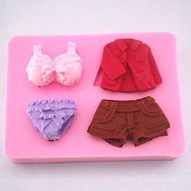 pantaloni rochie de lenjerie de corp fondante unelte de decorare tort de silicon mucegai tort, l8.5cm * w6.3cm * h1.8cm
