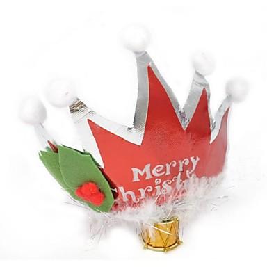 olcso Sapkák és fejfedők-17cm karácsonyi party korona tollal díszített (2db)