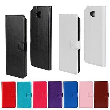 غطاء من أجل LG محفظة / حامل البطاقات / مع حامل غطاء كامل للجسم لون سادة قاسي جلد PU