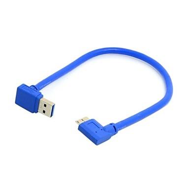 Sens de jos în unghi de 90 de grade USB 3.0 un dop de micro-b plug-dreapta în unghi de 20 cm de cablu
