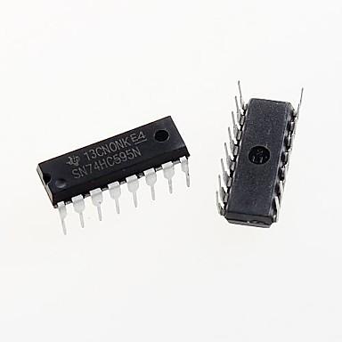 ieftine Accesorii Arduino-74HC595 dip-16 74hc595n sn74hc595n 8-bit registru de deplasare circuit integrat DIP-16 (5pcs)