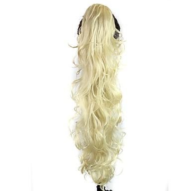Buclat Coadă de cal Sintetic Fir de păr Extensie de păr Blond Zilnic
