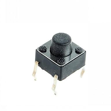 olcso Kapcsolók-4-pin mikrokapcsoló tapintható nyomógomb kapcsoló DIY 6x6x5mm (100 db)