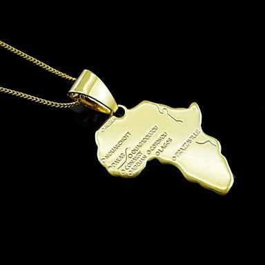 Недорогие Ожерелья-Ожерелья с подвесками Заявление ожерелья Мода Позолота 18К Сплав Золотой Ожерелье Бижутерия Назначение Для вечеринок Особые случаи День рождения Поздравления Подарок Повседневные