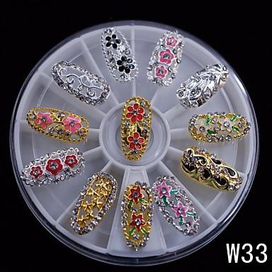 1 pcs Bijuterie unghii Încântător nail art pedichiura si manichiura Zilnic Fructe / Floare / Abstract / Desen animat / Unghiul de bijuterii / Punk