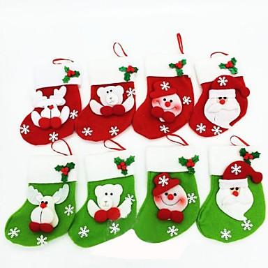 olcso Sapkák és fejfedők-15cmchristmas zokni karácsonyi party dekoráció 6db (véletlenszerű szín)