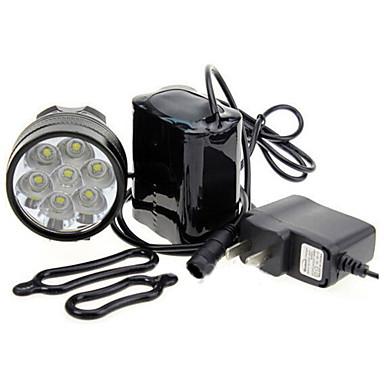 LED Lumini de Bicicletă Iluminat Bicicletă Spate lumini de securitate Cree® XM-L T6 Ciclism montan Bicicletă Ciclism Rezistent la apă Portabil Atenţie Ușor de Instalat 18650 7000 lm Baterie