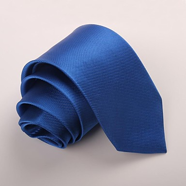 رخيصةأون ربطات عنق-ربطة العنق لون سادة رجالي حفلة / عمل