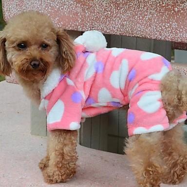رخيصةأون ملابس وإكسسوارات الكلاب-كلب المعاطف هوديس منامة الشتاء ملابس الكلاب متنفس كوستيوم القطبية ابتزاز قطن قلب S M L XL XXL