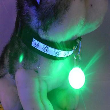 ieftine Câini Gulere, hamuri și Curelușe-Pisici Câine Etichete Lumini LED textil Nailon Verde Albastru Roz