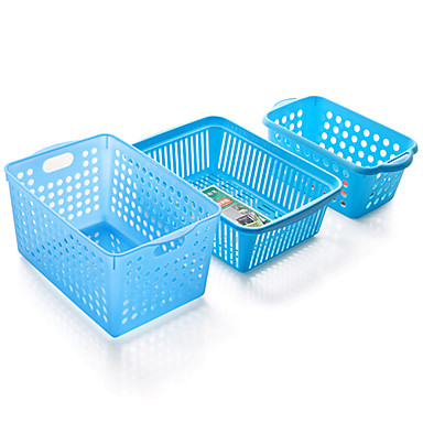 Colourful Padded Plastic Storage Baskets And Desktop Storage Baskets Kitchen Bathroom Storage