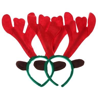 olcso Sapkák és fejfedők-karácsonyi díszek jávorszarvas fej karika (sokszög) (2db)