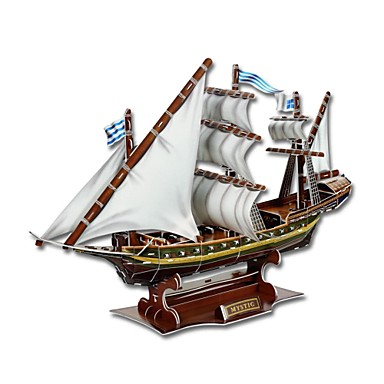 olcso 3D Puzzle-Develop Thinking Skills DIY 3D Paper Jigsaw Puzzle - Mystic Ship (129PCS)