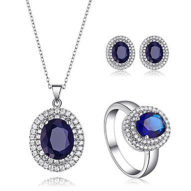 Roxi mode blå oval kristall smycken set halsband örhängen och ring 2197452  2019 – €38.99 2e90cdf5523ca