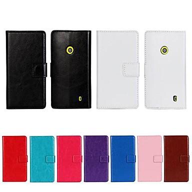 Maska Pentru Nokia Lumia 520 / Nokia Portofel / Titluar Card / Cu Stand Carcasă Telefon Mată Greu PU piele