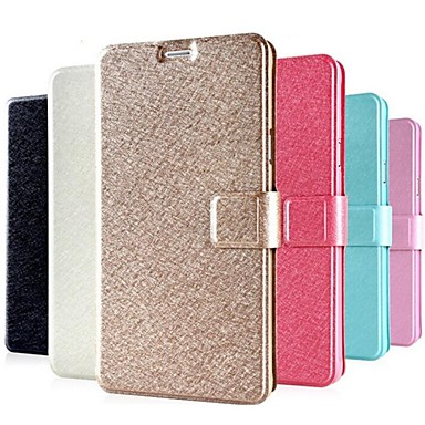 voordelige Galaxy Note-serie hoesjes / covers-hoesje Voor Samsung Galaxy Note 4 Kaarthouder / met standaard / Flip Volledig hoesje Effen PU-nahka