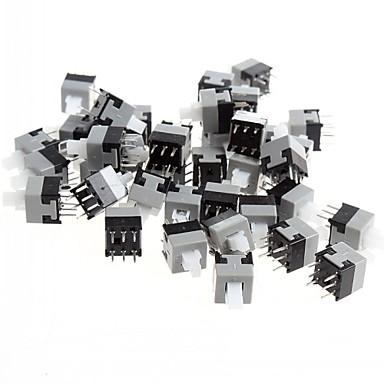 8,5 x 8.5mm 6 pini comutator de auto-blocare / întrerupător cu cheie (50 buc)