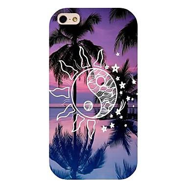 zon kokospalm patroon achterkant van de behuizing voor de iPhone 4 / 4s