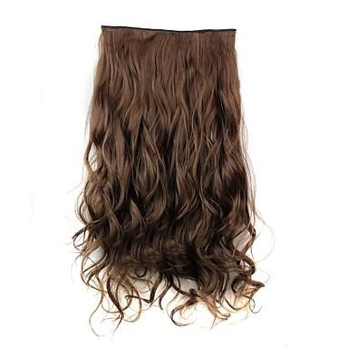 Extensii din Păr Natural Buclat Clasic Extensie de păr Agață În / Pe Maro Zilnic