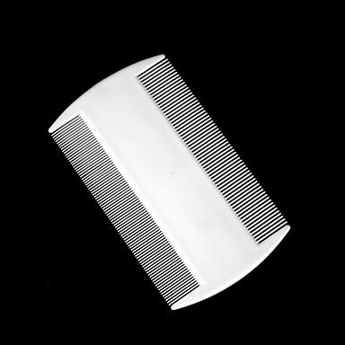 olcso Kutya Tartás és ápolás-PET műanyag kétoldalas bolha fésű