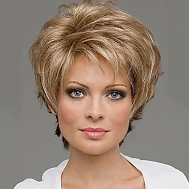 Peruci Sintetice Buclat Buclat Perucă Blond înălbitor Blonde Păr Sintetic 10 inch Pentru femei Blond