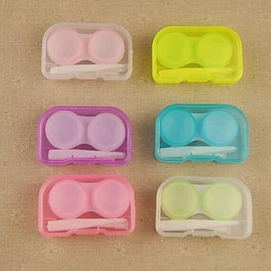 مربع التخزين المحمولة الحلوى الملونة العدسات اللاصقة (لون عشوائي)