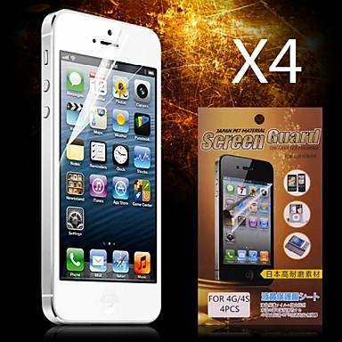 Ecran protector pentru Apple iPhone 6s / iPhone 6 4 piese Ecran Protecție Față High Definition (HD)