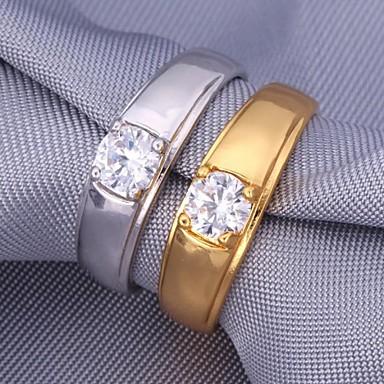 Pentru femei Band Ring Zirconiu Cubic Auriu Argintiu Zirconiu Placat cu platină Placat Auriu Modă Nuntă Petrecere Bijuterii Prietenie