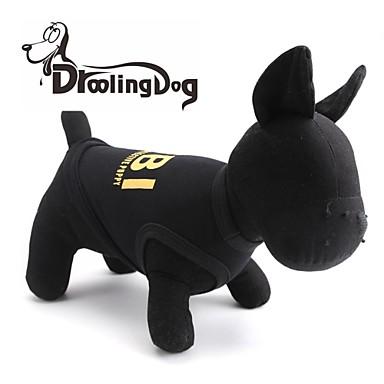 Pisici Câine Tricou Îmbrăcăminte Câini Negru Galben Costume Bumbac XS S M L