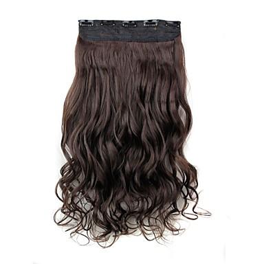 Buclat Clasic Păr Sintetic 22 inch Extensie de păr Agață În / Pe Pentru femei Zilnic