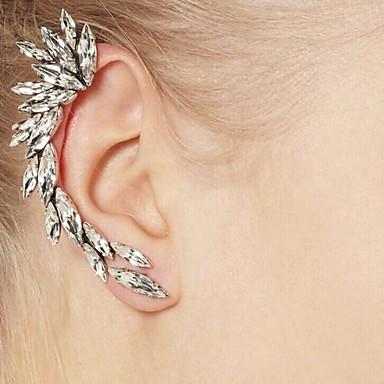 olcso Klipsz fülbevalók-Szintetikus gyémánt Klipszes fülbevalók Mászó fülbevaló Kézelő hölgyek Európai Strassz Fülbevaló Ékszerek Ezüst Kompatibilitás Napi Hétköznapi