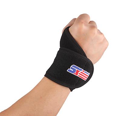 olcso Védőfelszerelések-SHUOXIN Kéz és csuklószorítók Csuklóvédő mert Futás Túrázás Kocogás Szabadtéri Állítható Rugalmas Műanyag Gumi 1db Sport Szabadtéri Fekete