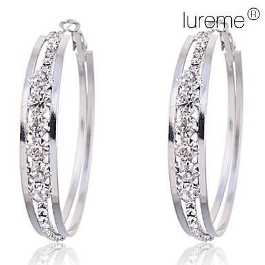 Pentru femei Cristal Cercei Rotunzi - Cristal Diamante Artificiale femei Bijuterii Pentru Petrecere Zilnic