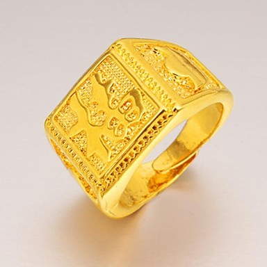 Men S Statement Ring Gold Plated Unique Design Fashion Jewelry