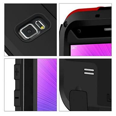 voordelige Galaxy Note-serie hoesjes / covers-hoesje Voor Samsung Galaxy Note 4 Waterbestendig / Schokbestendig Volledig hoesje Effen Kleur Metaal