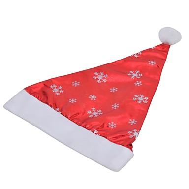 olcso Sapkák és fejfedők-stílusos hópehely minta nem szőtt + pleuche karácsonyi kalap - piros + fehér
