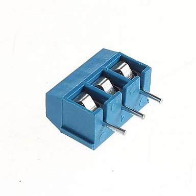 levne DIY díly-PCB 3-pin 5,08mm šroubových svorek - 300V / 16A (10 ks)