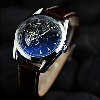 5c947759313 dvojité duté butik kruhový kožené mechanické hodinky Automatické mechanické  hodinky pánské (různé barvy) 2496407 2019 – €46.99